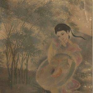 2. Tú Duyên, Trúc xinh trúc mọc bờ ao, màu nước, 41×20, 1968