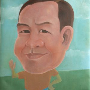2.Phạm An Hòa, chân dung Trương Văn Thuận, sơn dầu, 82×62, 2013