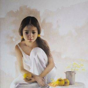 31. Nghiêm Xuân Hưng, Tư lự, sơn dầu, 100×80 cm,04-2018