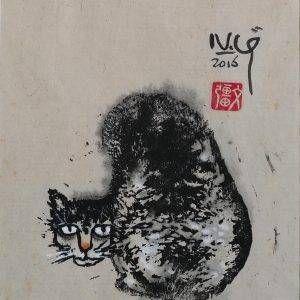 1. Nguyễn Văn Cường, Mèo hoang, in độc bản, 21×18 cm, 2016