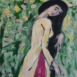 11.Phạm Lực, thiếu nữ, sơn dầu, 70×60 cm,2011