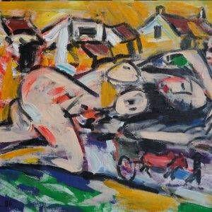 19.Phạm Lực, Khỏa thân, sơn dầu, 79×95 cm, 1986