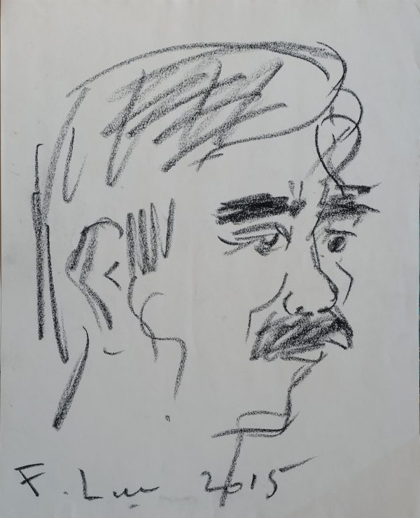 2. Phạm Lực, chân dung, chì màu, 32×26 cm, 2015