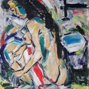 24.Phạm Lực, Khỏa thân, sơn dầu, 89×68 cm, 1993