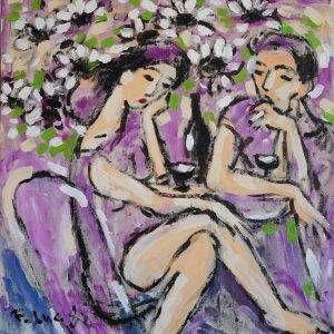 25.Phạm Lực, Tán tỉnh, sơn dầu, 92×88 cm, 1982