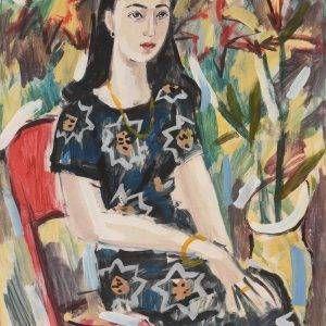 27.Phạm Lực, Cô gái Sài Gòn, tổng hợp, 105x75cm, 1997