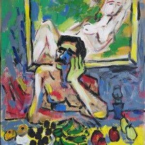 28.Phạm Lực, Nhớ em, sơn dầu, 110×89 cm, 2018