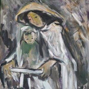 29.Phạm Lực, Tình mẹ, sơn dầu, 112×91 cm, 2011