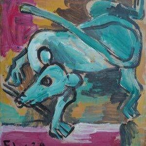 3.Phạm Lực, chuột, sơn dầu, 35×32.5 cm, 2009