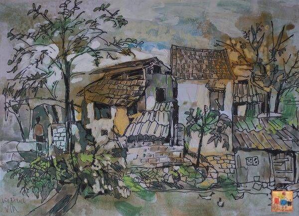 5. Văn Chiến, ký họa phong cảnh, mầu nước, 30×42, 2012