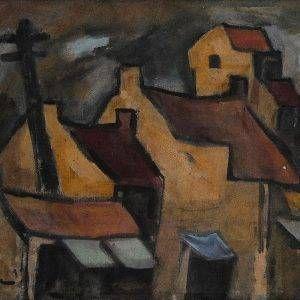 5.Phạm Lực, Phố, sơn dầu, 51×65, 1982
