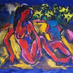 6.Phạm Lực, Khỏa thân 1, sơn dầu, 60×78 cm,2016