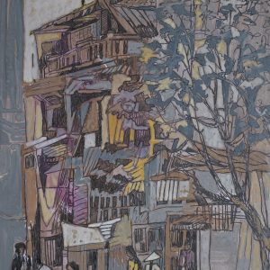 8. Văn Chiến, ký họa phong cảnh, màu nước, 41x29cm, 2014