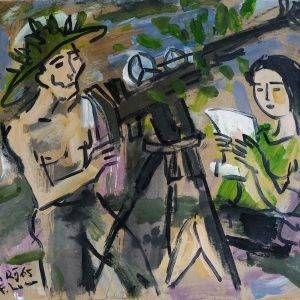8.Phạm Lực, Hàm Rồng, sơn dầu, 66×79 cm, 1965