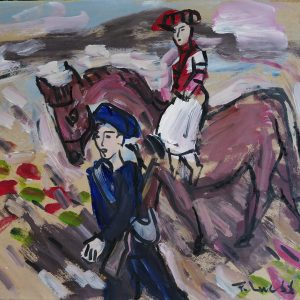 9.Phạm Lực, Xuống chợ, sơn dầu, 66x79cm, 1966