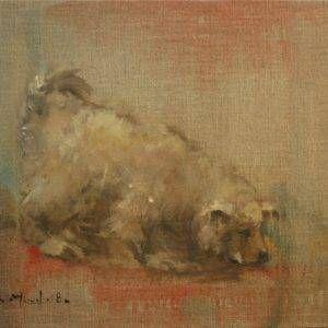 1. Bùi Văn Tuất,Mậu Tuất, sơn dầu, 29×35 cm, 2018