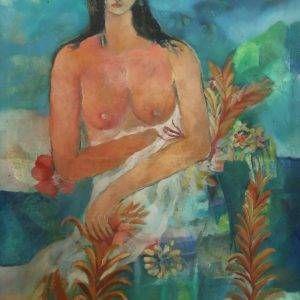 1. Nguyên Khai, khỏa thân, sơn dầu, 96×65 cm, 1970