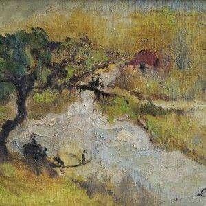 1.Lê Trung, phong cảnh, sơn dầu, 24×35, 1961