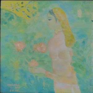 2. Nguyên Khai, thiếu nữ, sơn dầu, 100x100cm, 1967