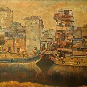 3. Văn Đen, Bến Ninh Kiều, sơn dầu, 80x110cm,