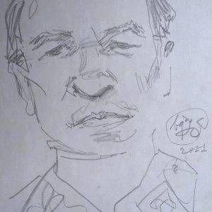 4. Bùi Quang Ngọc, ký họa Trương Văn Thuận, chì, 30x21cm, 2011