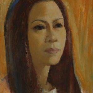 5. Bùi Quang Ngọc, chân dung NS Ánh Tuyết, sơn dầu,40x30cm, 2013