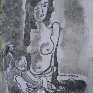 13. Phạm Lực, Ru con, sơn dầu, 82×65 cm, 2011