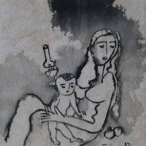 4. Phạm Lực, sơn dầu, chông đèn, 43x38cm, 1997
